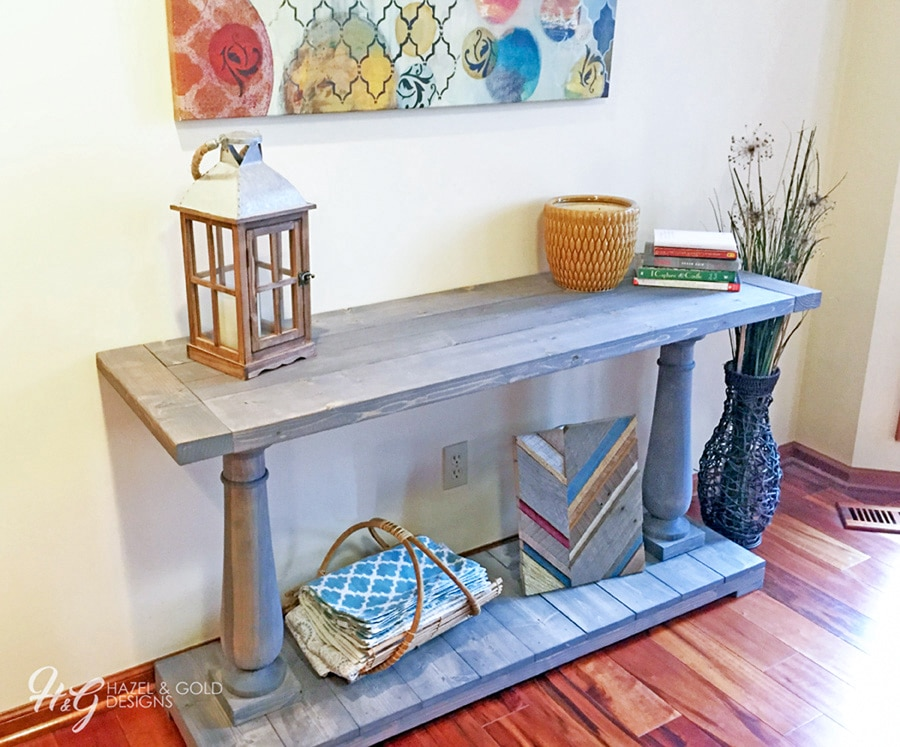 How to build a DIY Restoration Hardware-inspired Balustrade Console Table - Free plans by Jen Woodhouse