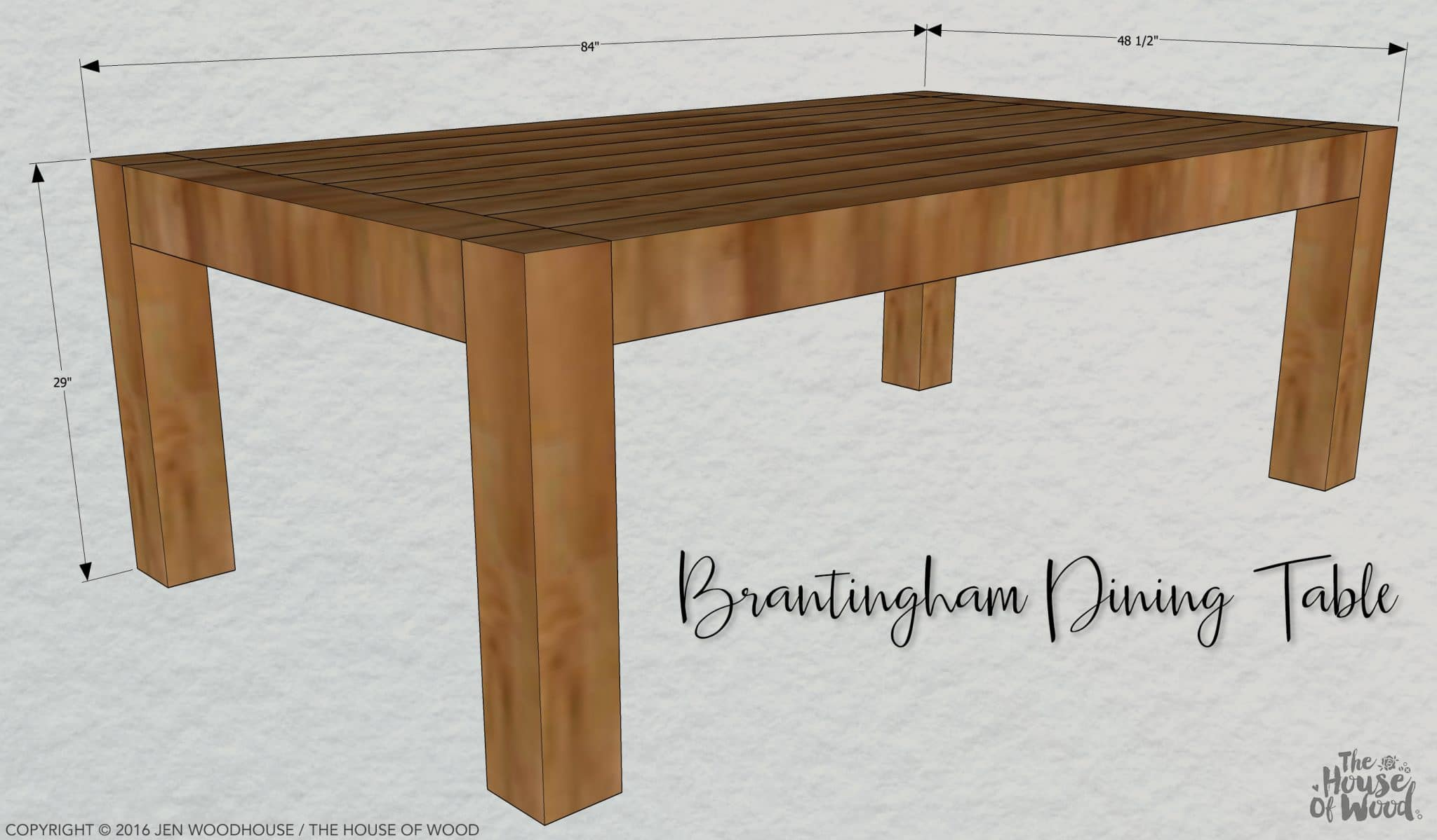 Diy chunky modern dining table for Breakfast table plans