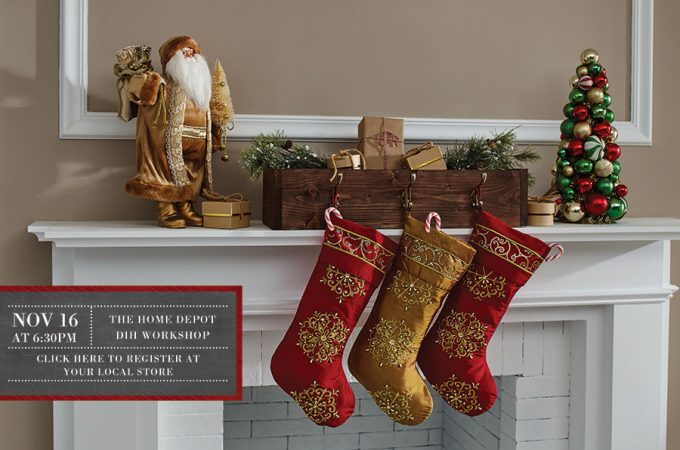 Home Depot DIH Workshop Christmas Stocking Holder Box