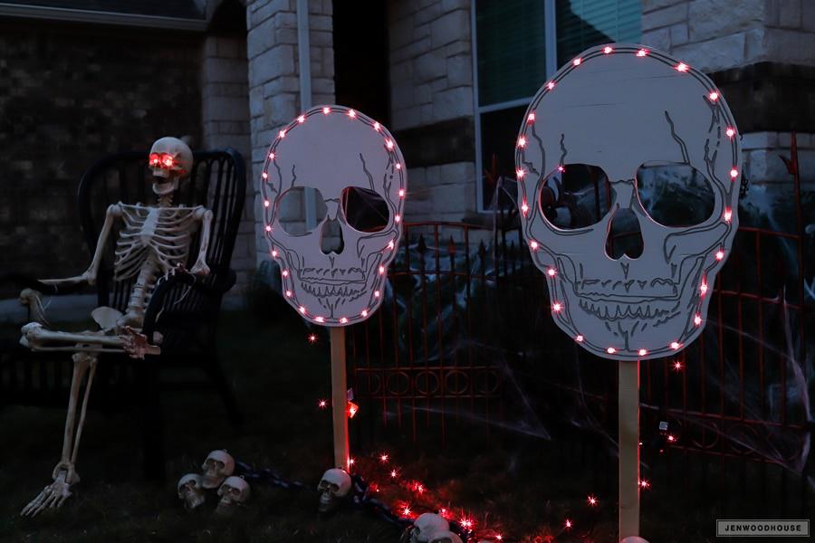 Halloween Skull Skeleton Yard Decorations