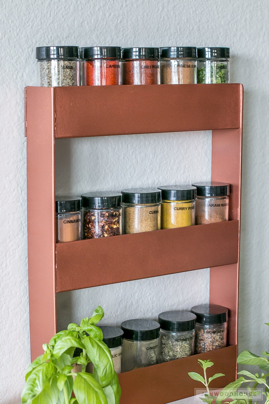 diy copper spice rack copper spice rack