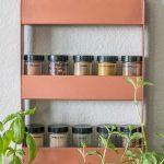 Copper Spice Rack
