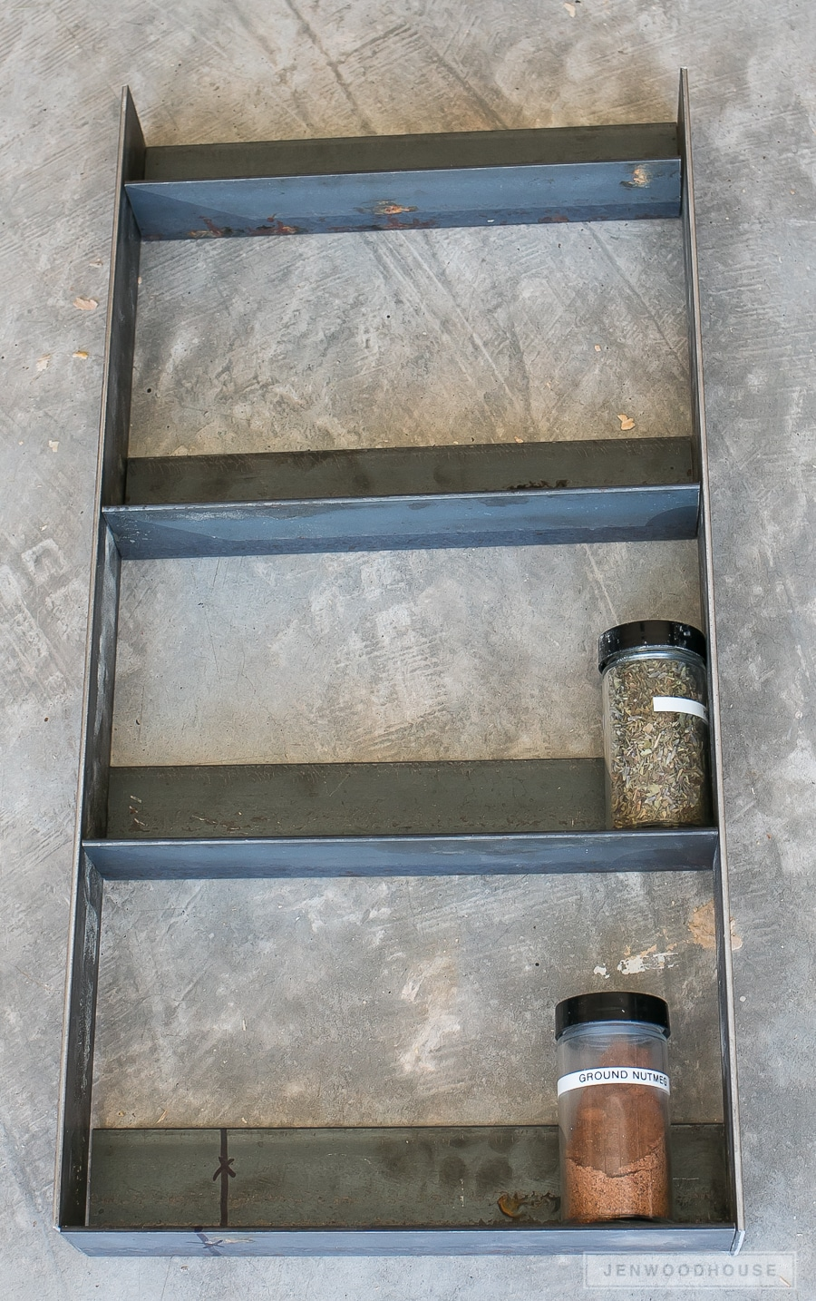 How to make a DIY industrial metal spice rack