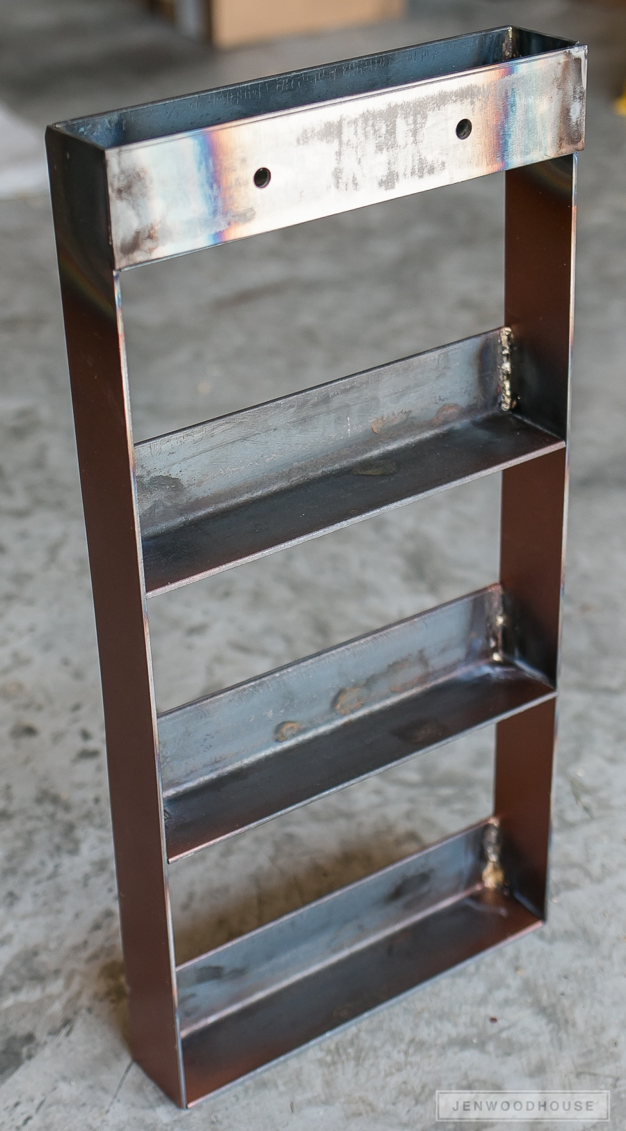 DIY Industrial Metal Spice Rack
