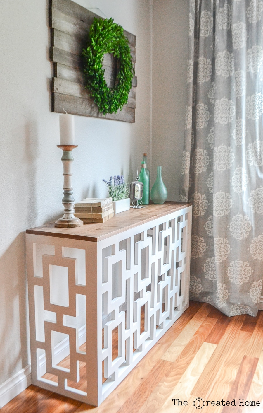 How to build a DIY console table with stunning fretwork design by Jen Woodhouse