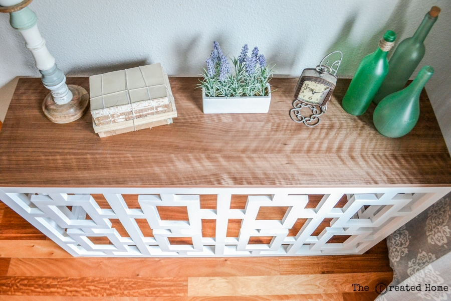 DIY Fretwork Console Table - plans by Jen Woodhouse