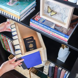 Make a secret hiding place! This book storage box is perfect for hiding small valuables.