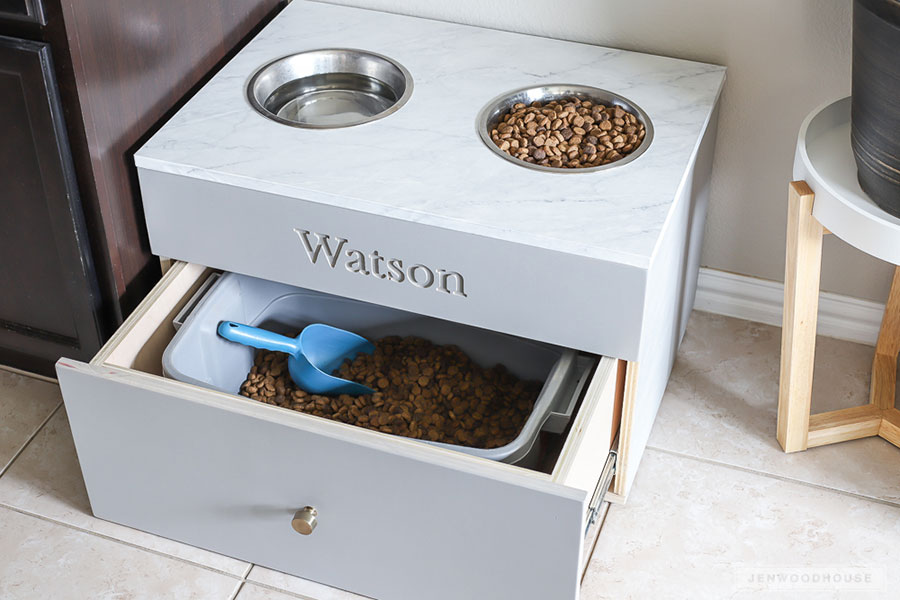 How To Make A Diy Large Dog Food Station Pet Feeding Station