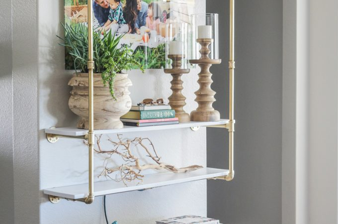 How to make DIY pipe shelving with lights