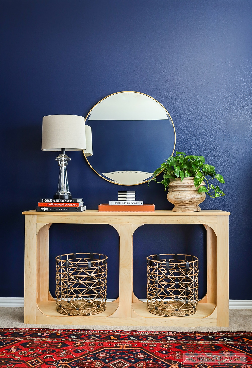 How to build a DIY console table from one sheet of plywood