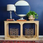 One Sheet Plywood Console Table