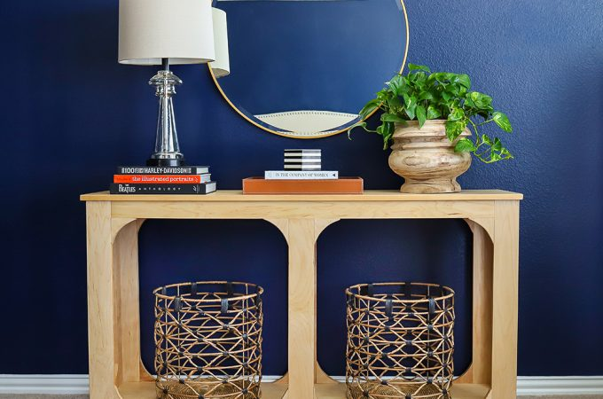 How to build a DIY console table using only one sheet of plywood!