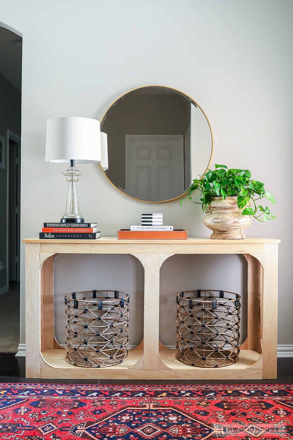 How to build a DIY console table out of a single sheet of plywood