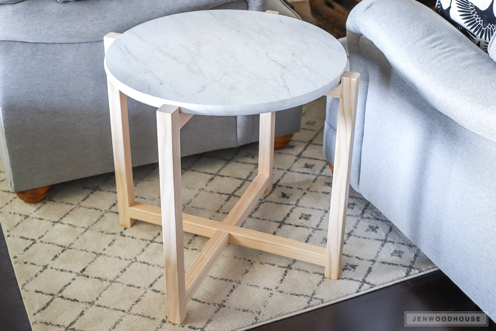 How to make a faux marble side table