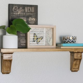 How to build an easy DIY shelf with store-bought corbels.