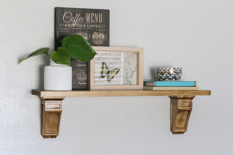 Easy DIY Shelf with Corbels