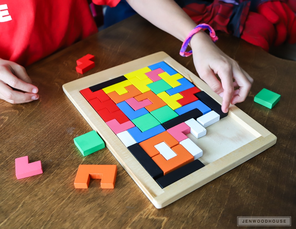 How to make a DIY wood Tetris puzzle game