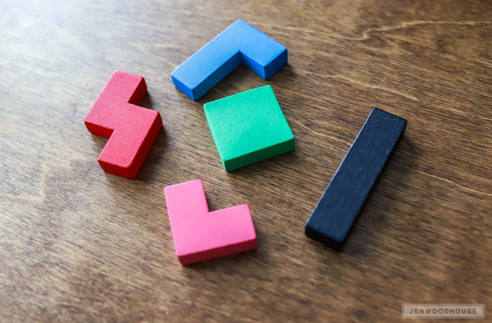 How to make a DIY wood Tetris game