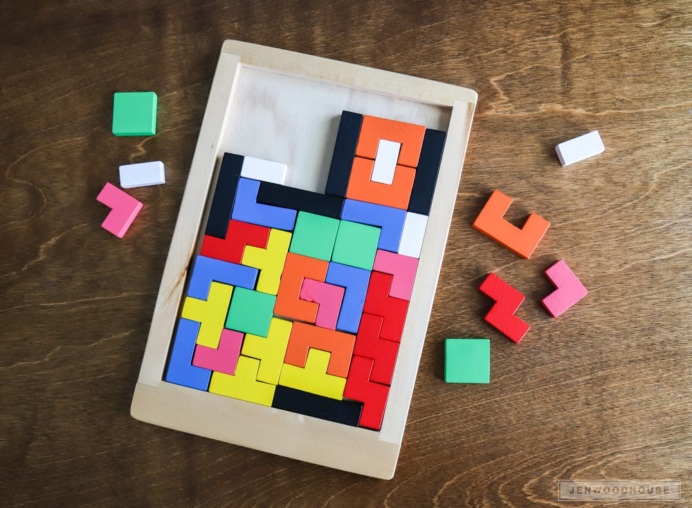 How to make a DIY wooden Tetris puzzle