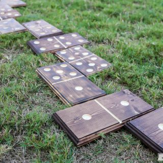 How to make DIY giant yard dominoes