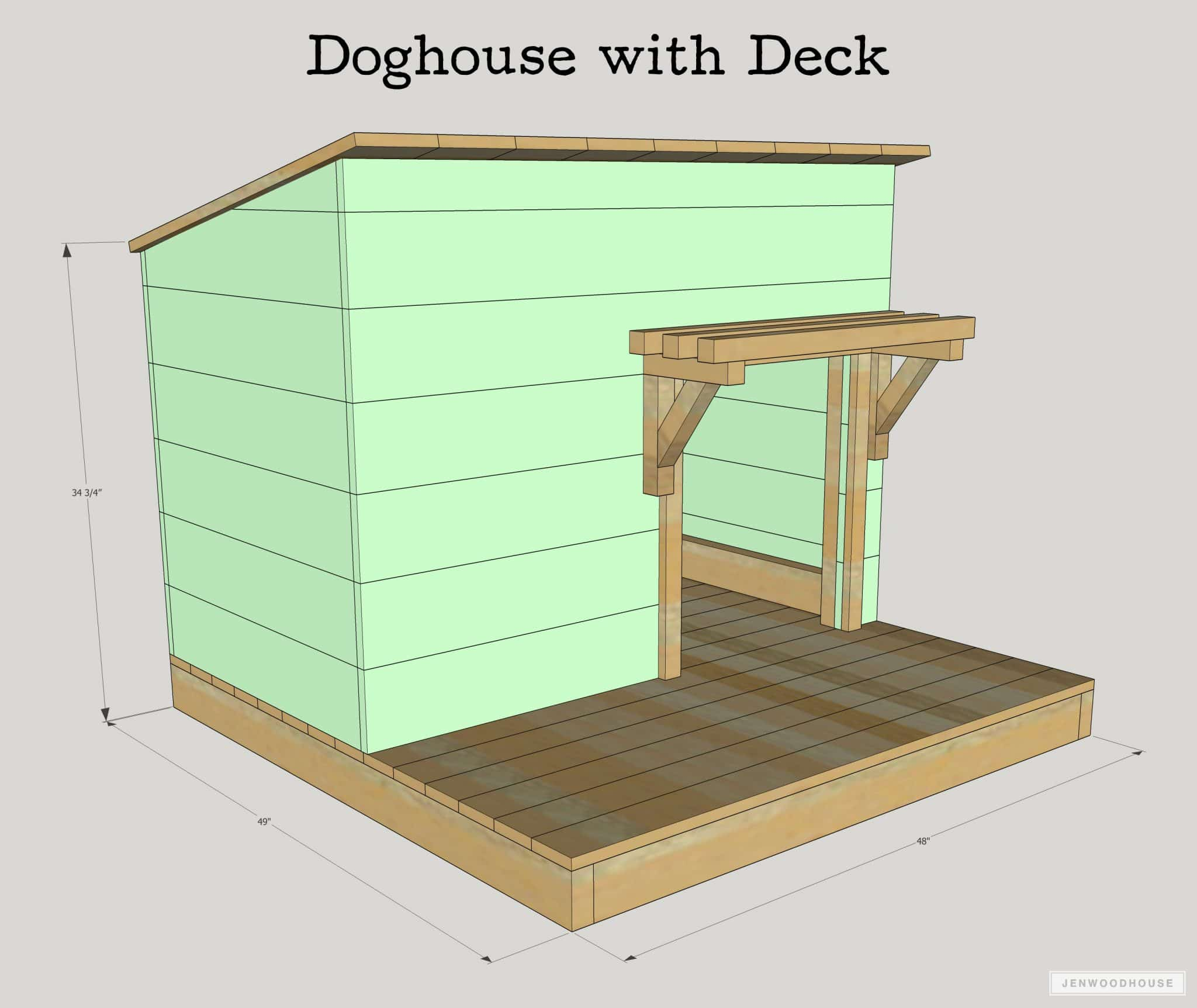 Porch Vs Deck Which Is The More Befitting For Your Home: DIY Doghouse With Deck, Toy Box, And Food Bowl