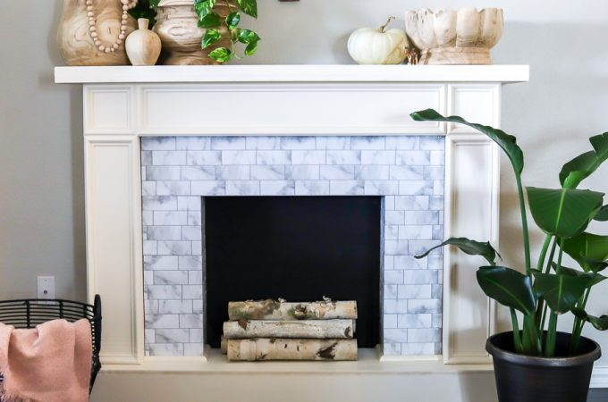 How to build a renter-friendly faux fireplace using Smart Tiles peel-and-stick tiles