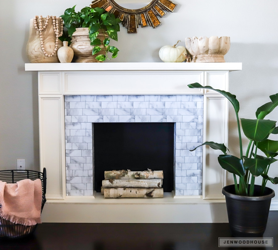 DIY Faux Fireplace with Smart Tiles