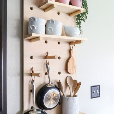 Oversized Pegboard Shelves