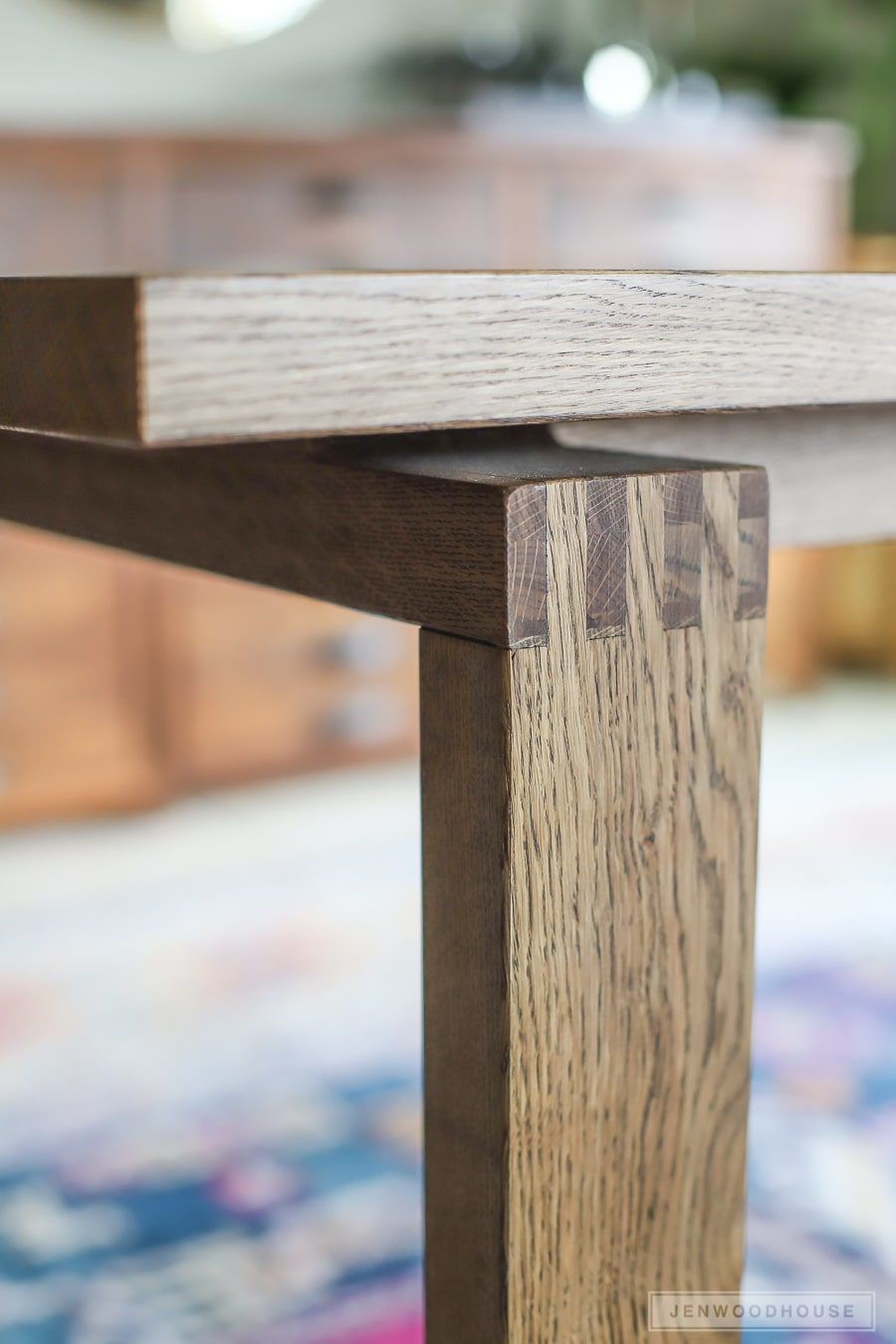 Modern Box Joint Dining Table - plans by Jen Woodhouse
