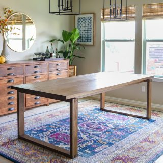 Build a modern dining table - plans by Jen Woodhouse