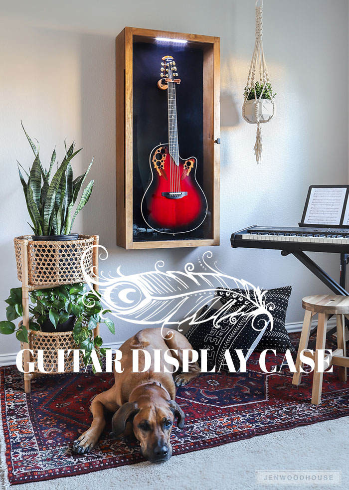 How to make a DIY guitar display case with glass panel door and LED lighting
