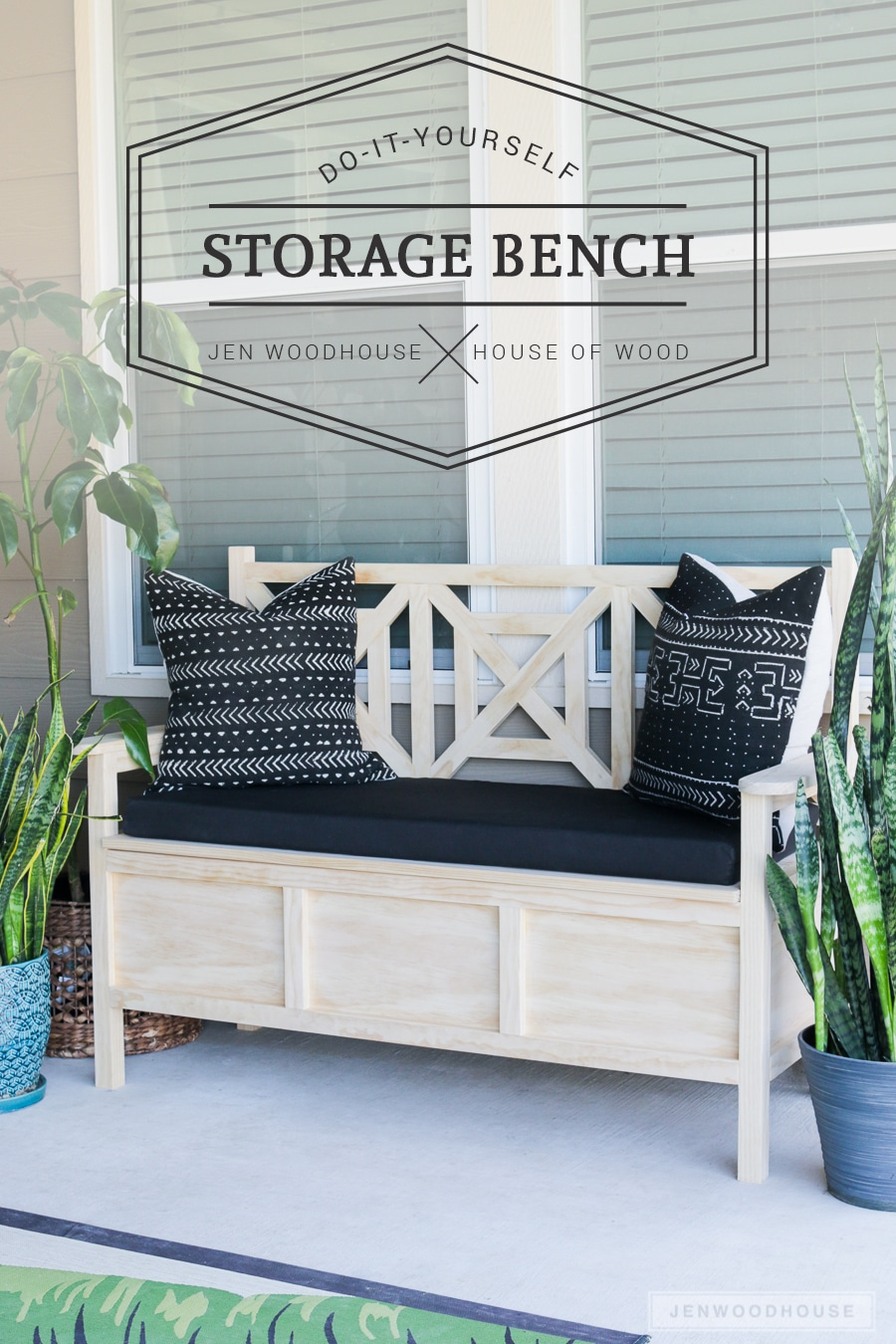 How To Build A DIY Outdoor Storage Bench With Beautiful Fretwork Panels And  Hidden Storage Under