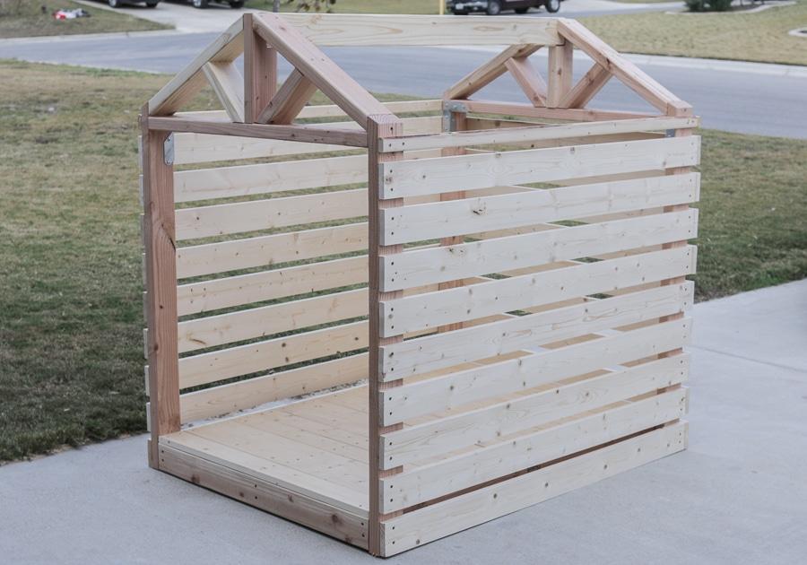 How to build a DIY dog house gazebo dogzebo