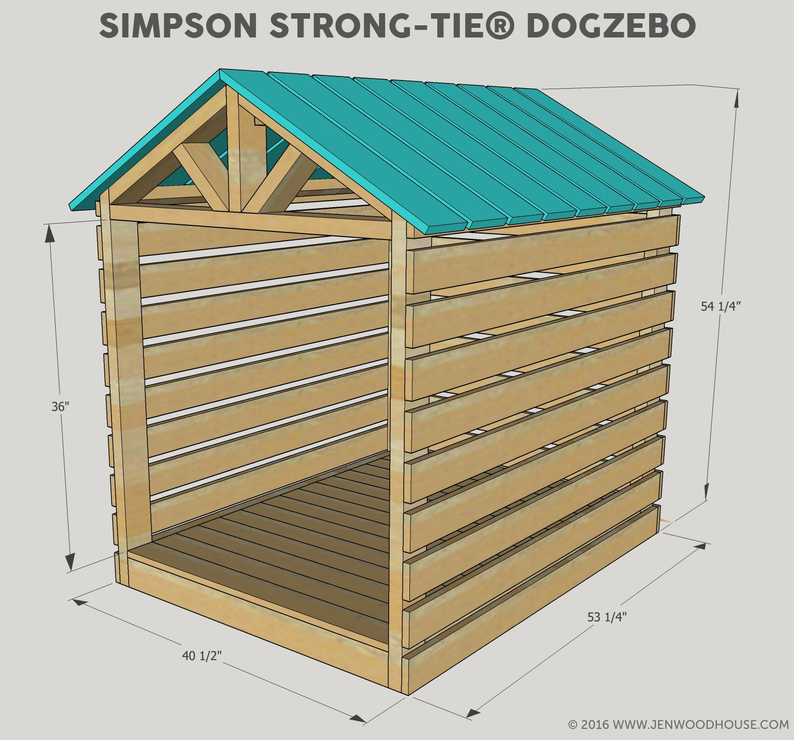 How to build a DIY Dog House Gazebo - free building plans!