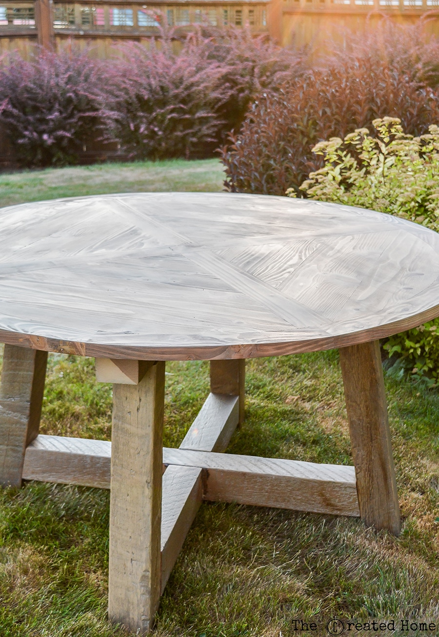 Superbe How To Build A DIY Salvage Wood Beam Round Dining Table. Plans By Jen  Woodhouse