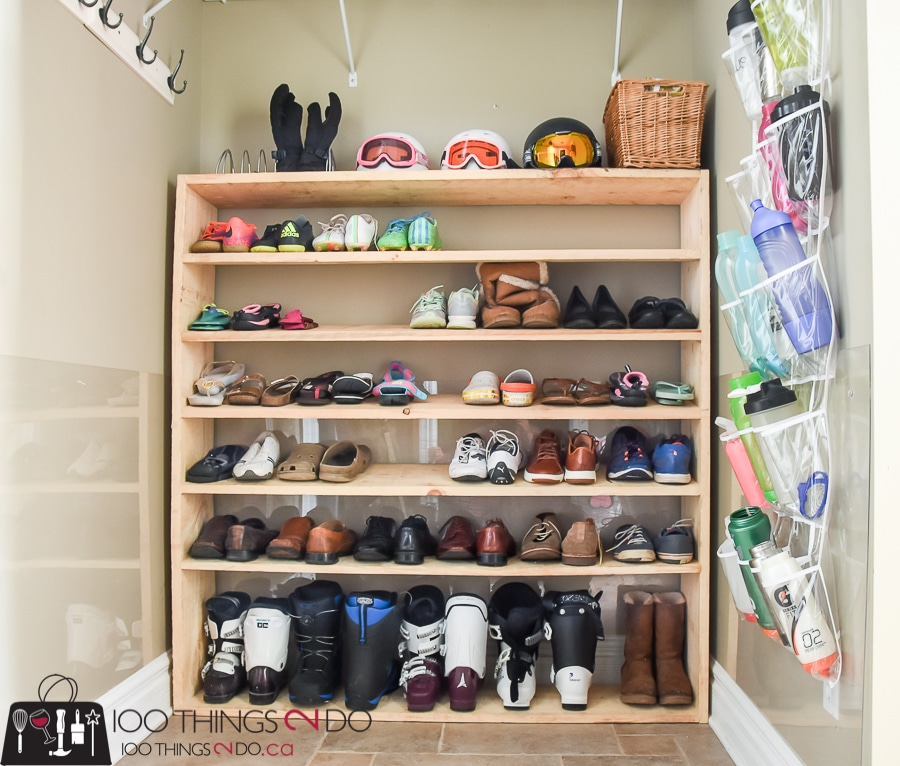Large Shoe Rack Super Sized Oversized Diy