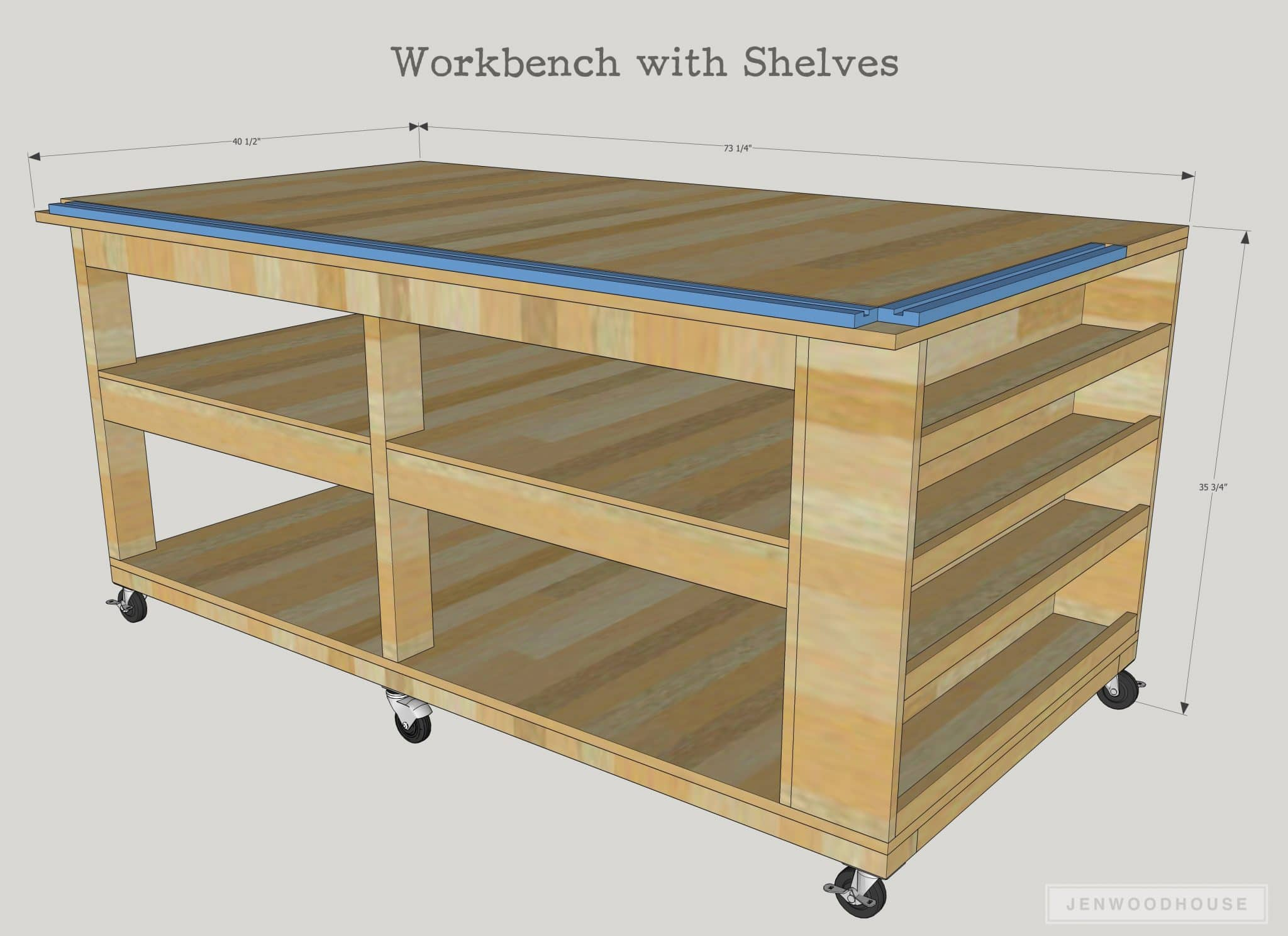 Mobile Garage Workbench Ideas : How to build a diy mobile workbench with shelves