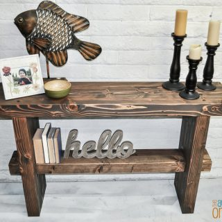 How to build a chunky 4x4 console table