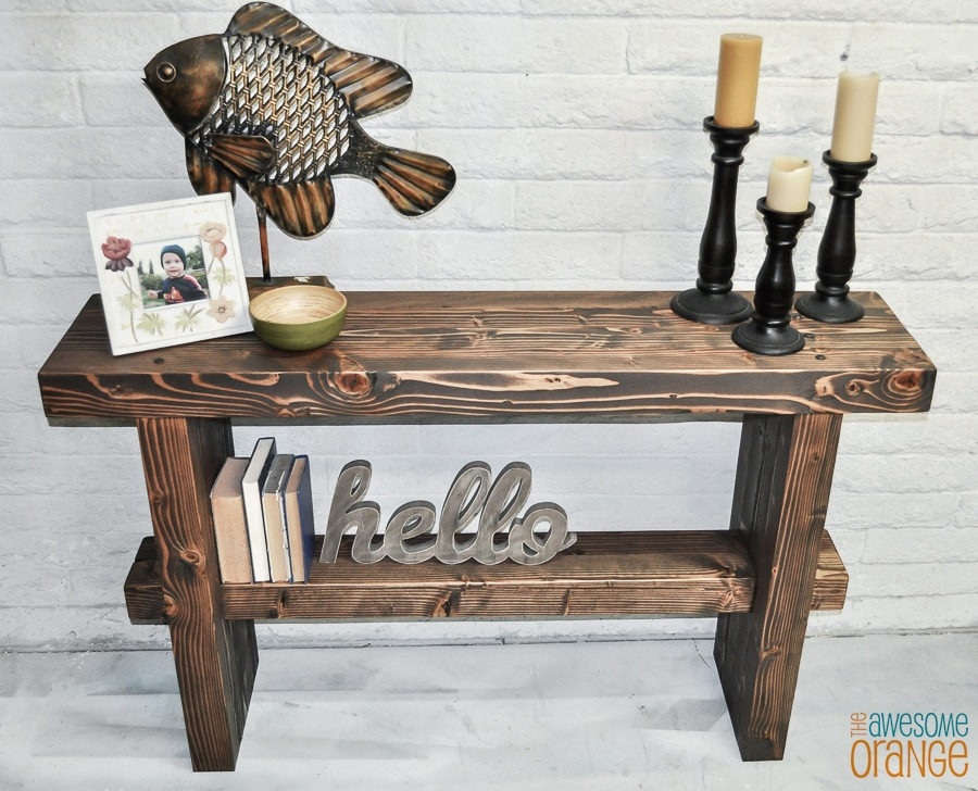 How to build a DIY chunky console table