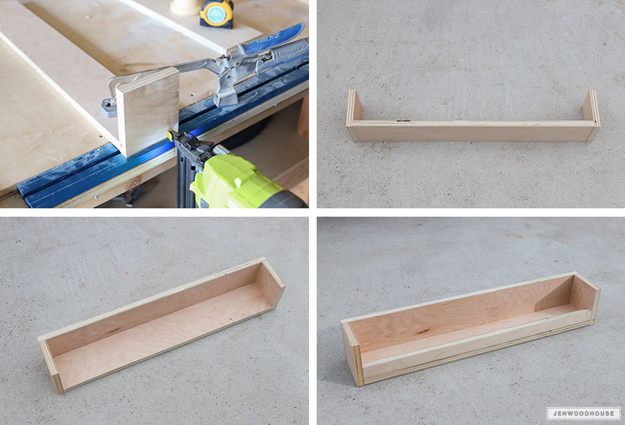 Make a DIY stocking hanger box for Christmas