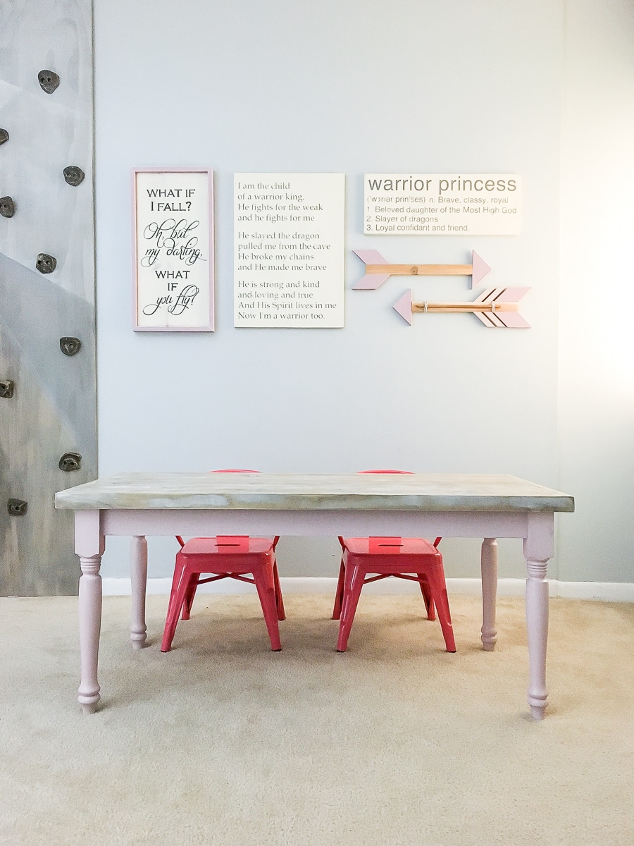 DIY kids farmhouse table