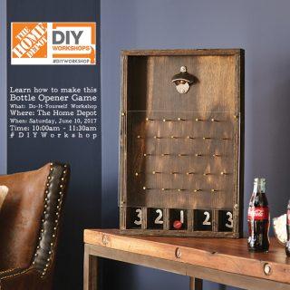 Learn how to make a DIY Bottle Opener Plinko Game at The Home Depot DIY Workshop
