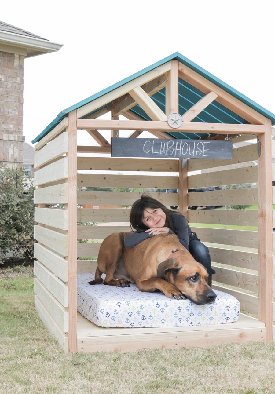 How to build a DIY doghouse gazebo dogzebo