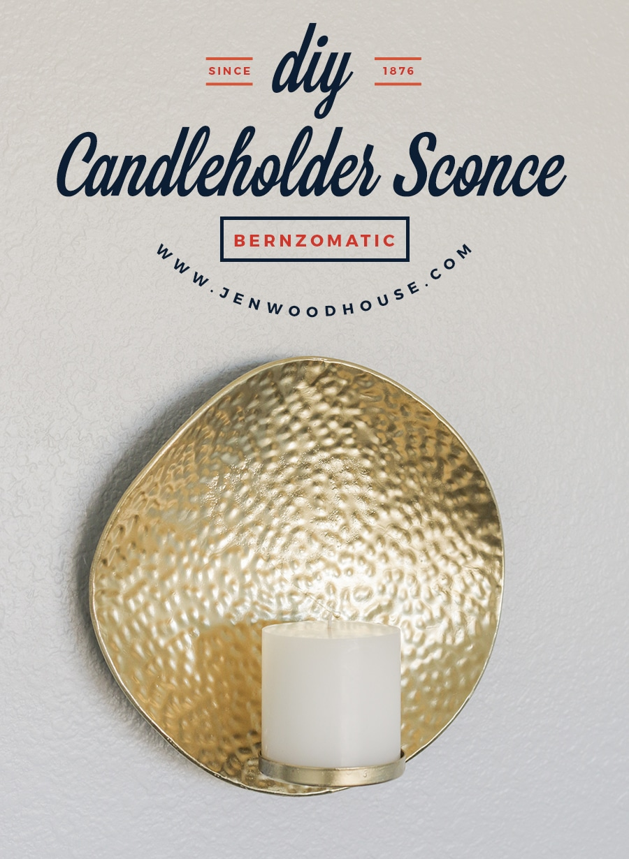 How to make a DIY metal candleholder sconce