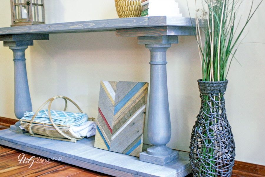 Free plans! How to build a DIY balustrade console table inspired by Restoration Hardware