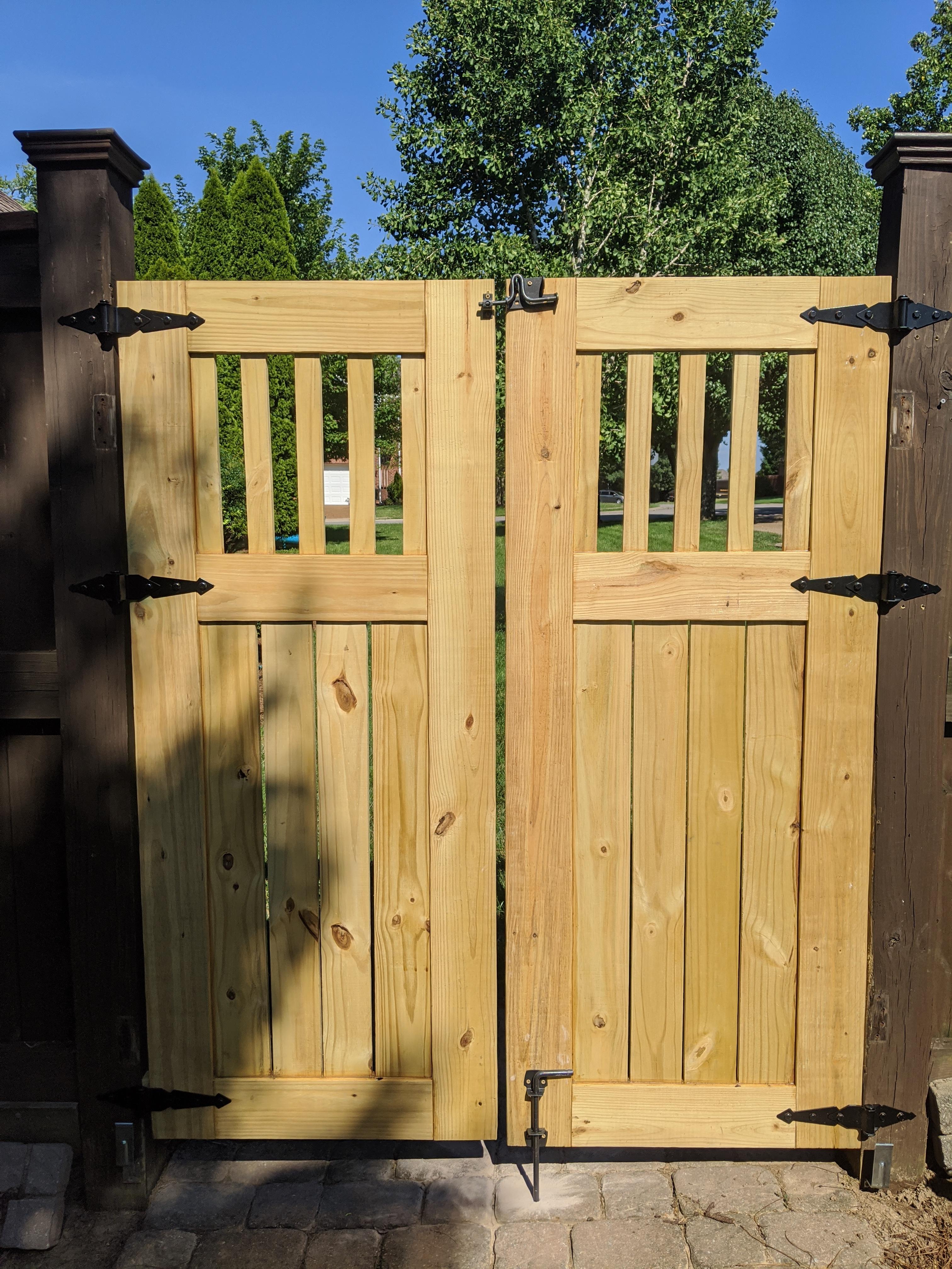 Twin DIY Wooden Garden Gates