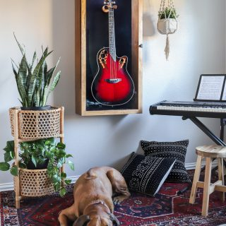 Display your treasured guitar in style! How to build a DIY Guitar Display Case