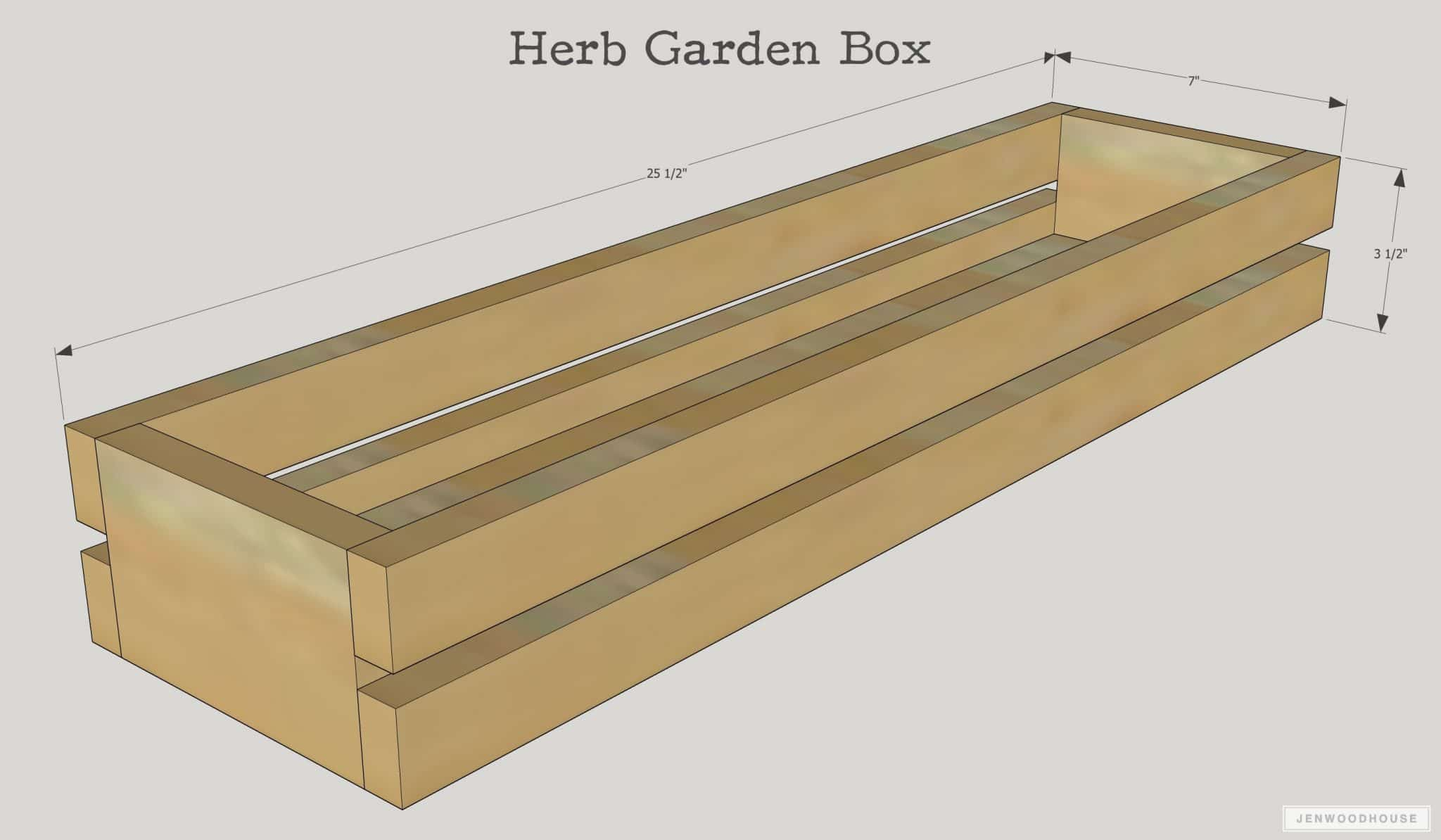 How to make a DIY herb garden box - free plans
