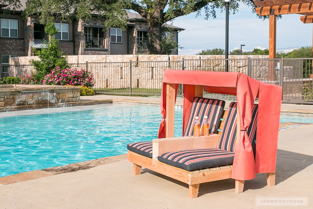 How to build a kids outdoor cabana lounge chair