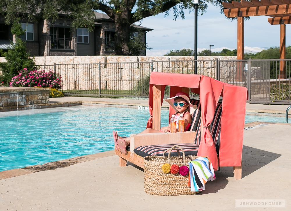 How to build a DIY kids outdoor double lounge chair